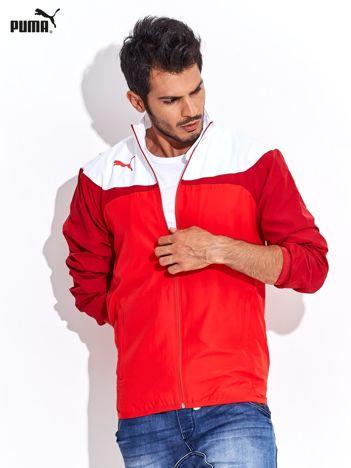 PUMA Biało-czerwona rozpinana bluza męska sportowa
