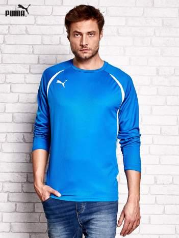 PUMA Niebieska bluzka męska z przeszyciami