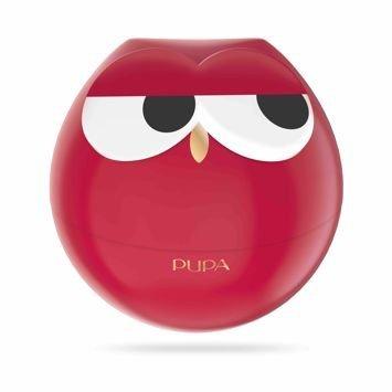 PUPA Owl Zestaw do makijażu ust - 3 pomadki i 2 błyszczyki 004 Red Shades