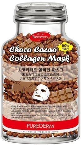 PUREDERM koreańska czekoladowo-kolagenowa maska na tkaninie