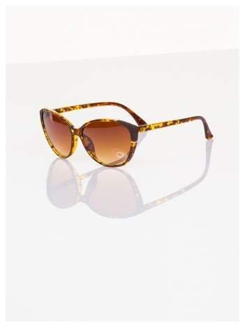 Pantera KOCIE OKO klasyczne damskie okulary przeciwsłoneczne ze zdobieniami na ramkach