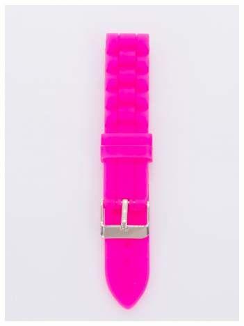 Pasek silikonowy do zegarka 18 mm - różowy