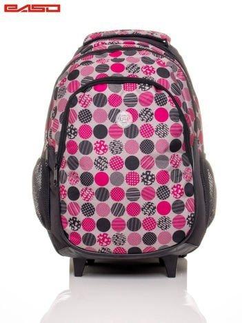 Plecak szkolny na kółkach z kolorowym nadrukiem