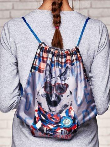 Plecak typu worek z nadrukiem psa