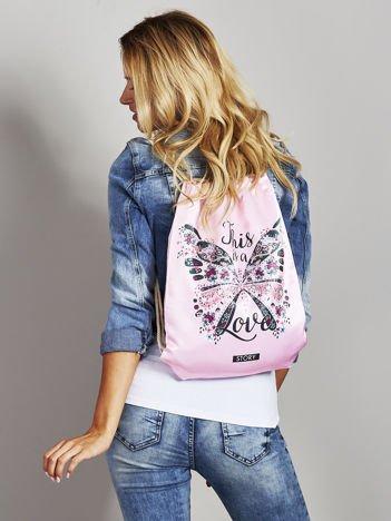 Plecak worek z nadrukiem motyla