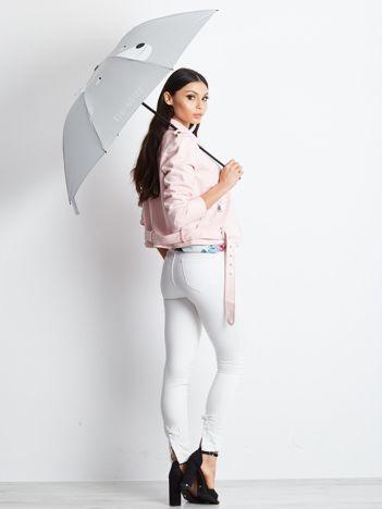 Półautomatyczny składany parasol szary