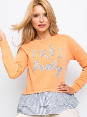 Pomarańczowa bluza Lucky