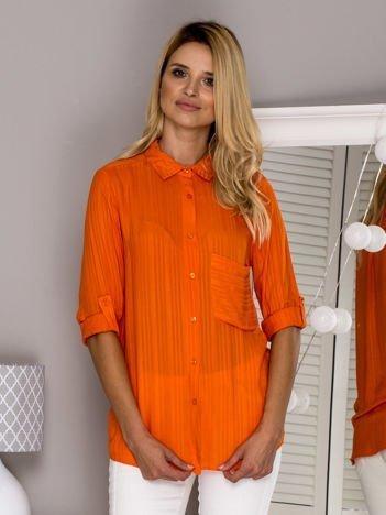 Pomarańczowa bluzka koszulowa