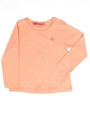 Pomarańczowa gładka bluzka dziewczęca