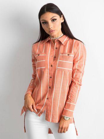 Pomarańczowa koszula w paski
