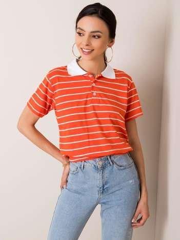 Pomarańczowa koszulka polo Libbie RUE PARIS