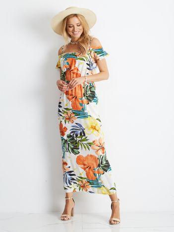 Pomarańczowa sukienka Monstera
