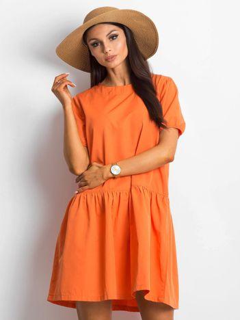 Pomarańczowa sukienka Style-conscious