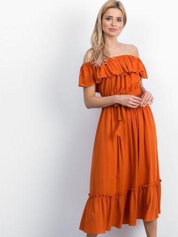 Pomarańczowa sukienka Swanky