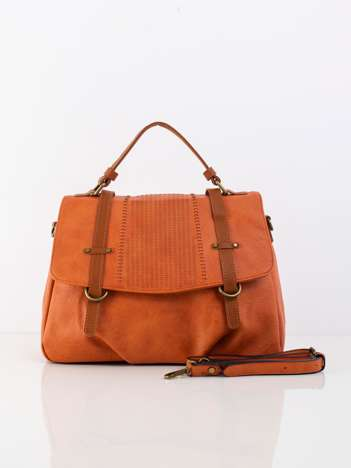 Pomarańczowa torba z odpinanym paskiem