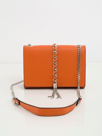 Pomarańczowa torebka na łańcuszku
