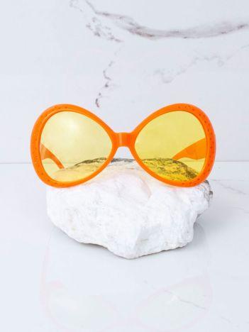 Pomarańczowe duże okulary