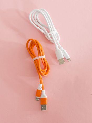 Pomarańczowo-białe kable USB do iPHONE iOS 2 sztuki