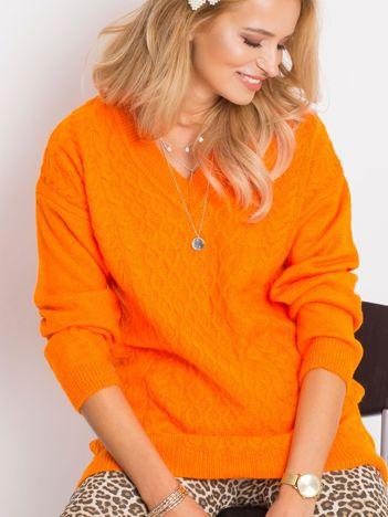Pomarańczowy sweter Chill