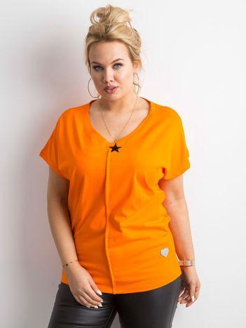 Pomarańczowy t-shirt PLUS SIZE