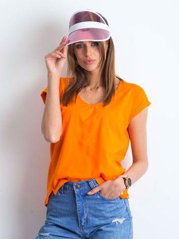 Pomarańczowy t-shirt Vibes