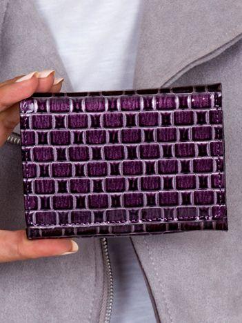 Portfel damski fioletowy w geometryczne wzory