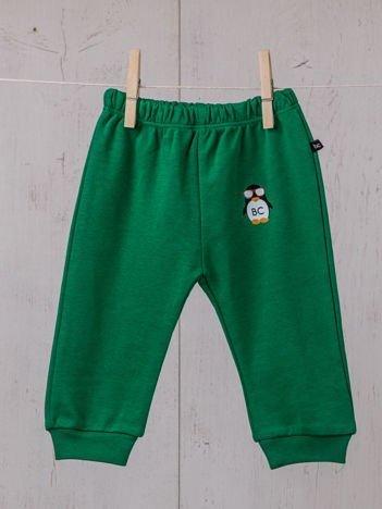 Praktyczne niemowlęce  bawełniane spodnie dresowe w gumkę dla chłopca i dziewczynki zielone