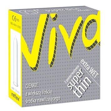 Prezerwatywy Viva Super Thin extra wet ekstra cienkie, ekstra nawilżone