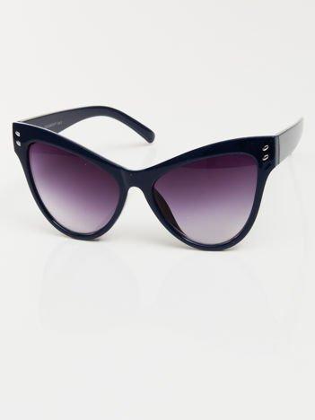 Przeciwsłoneczne granatowe okulary damskie CAT ELEGANT