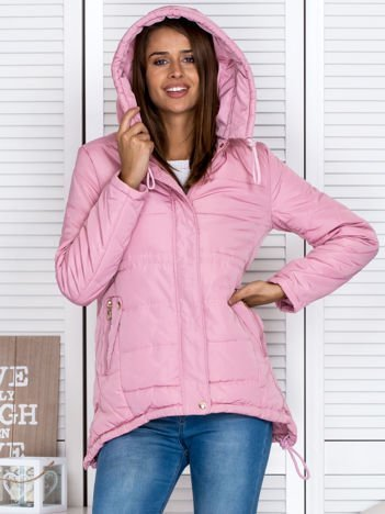 Przejściowa kurtka damska z kapturem różowa