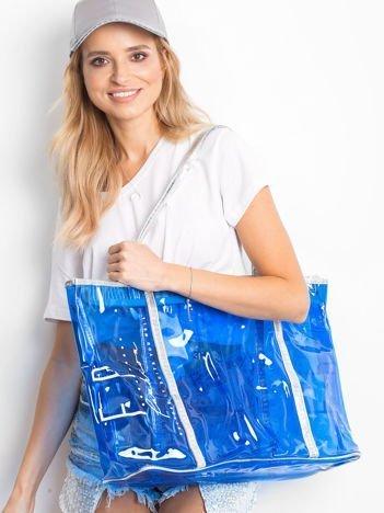 Przezroczysta torba shopper niebieska