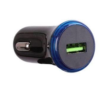 Q-touch Ładowarka samochodowa z wyjściem USB 3A 18W Kolor czarny