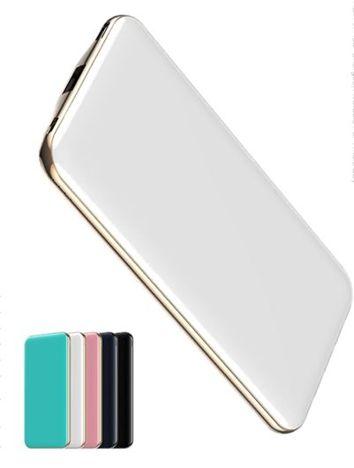 Q-touch QPB-01PD Nowoczesny Powerbank o mocy 10000 mAh Bateria polimerowa szybkie ładownie 2A dwa USB Kolor biały