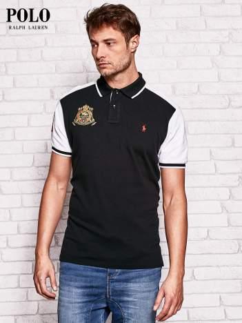 RALPH LAUREN Czarna modułowa koszulka polo męska