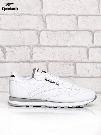 REEBOK Białe buty męskie sportowe Classic Leather z przeszyciami