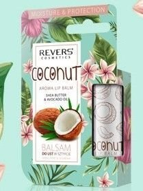 REVERS Balsam do ust w sztyfcie Nawilżenie & Ochrona Kokos 4g