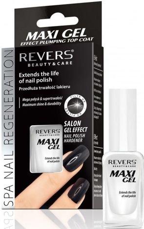 REVERS MAXI GEL EFFECT PLUMPING TOP COAT przedłużający trwałość lakieru10 ml