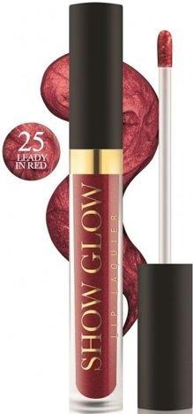 REVERS Metaliczna pomadka do ust w płynie SHOW GLOW nr 25 LEADY IN RED 5,5 ml
