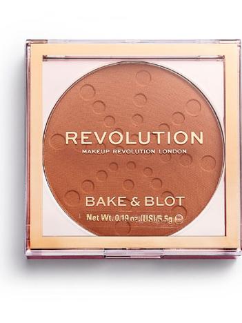 REVOLUTION Bake & Blot Puder matujący Orange 5,5 g