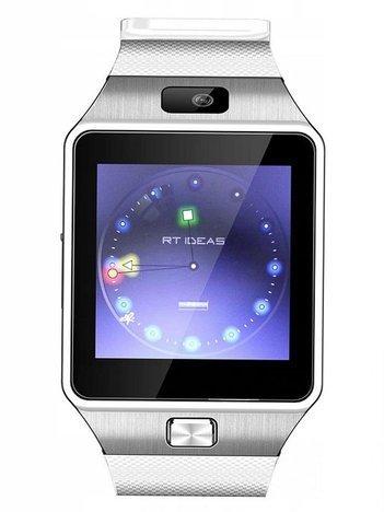 RONEBERG RONEBERG Smartwatch R09 Współpracuje z Android oraz iOS Powiadomienia Połączenia Krokomierz Monitor snu biało-srebrny