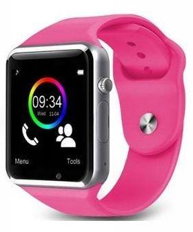 RONEBERG Smartwatch RA1 Współpracuje z Android oraz iOS Powiadomienia Połączenia Krokomierz Monitor snu różowo-srebrny