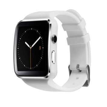 RONEBERG Smartwatch RX6 Współpracuje z Android oraz iOS Powiadomienia Połączenia Krokomierz Monitor snu Biały
