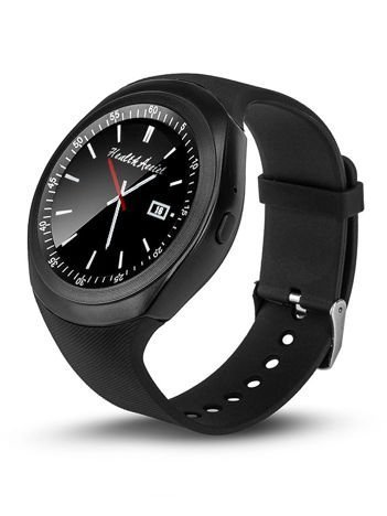 RONEBERG Smartwatch RY1B Współpracuje z Android oraz iOS Powiadomienia Połączenia Krokomierz Czarny