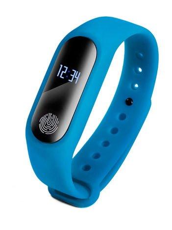 RONEBERG Smartwatch Smartband R2 Pulsometr Ciśnieniomierz Oksymetr Powiadomienia Długi czas działania Wodoodporny IP 67 Niebieski