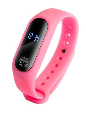 RONEBERG Smartwatch Smartband R2 Pulsometr Ciśnieniomierz Oksymetr Powiadomienia Długi czas działania Wodoodporny IP 67 Różowy