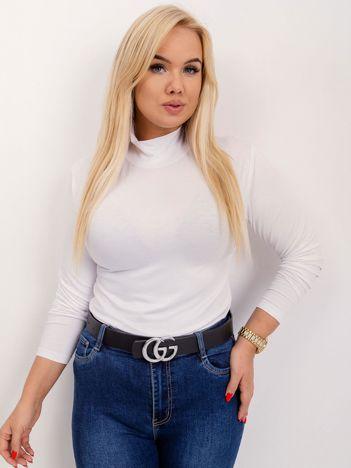 RUE PARIS Biała bluzka plus size Brooke