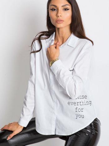 RUE PARIS Biała koszula Ensamble