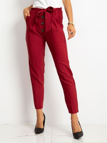RUE PARIS Bordowe spodnie Devon