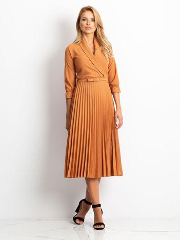 RUE PARIS Brązowa sukienka Hope
