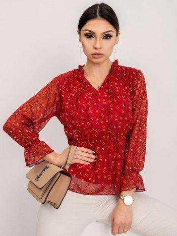 RUE PARIS Ciemnoczerwona bluzka Alexis